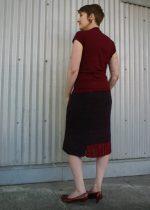 cutaway skirt back